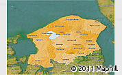 Political Shades 3D Map of Frederiksborg, satellite outside