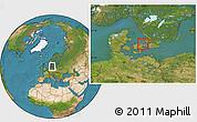 Satellite Location Map of Allerod