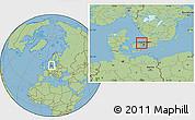 Savanna Style Location Map of Allerod