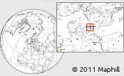 Blank Location Map of Birkerod
