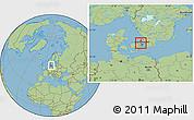 Savanna Style Location Map of Birkerod