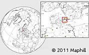 Blank Location Map of Frederikssund