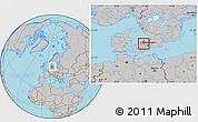 Gray Location Map of Frederikssund