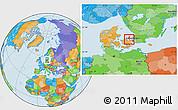 Political Location Map of Frederikssund, highlighted parent region