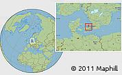 Savanna Style Location Map of Frederikssund