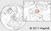 Blank Location Map of Frederiksvark