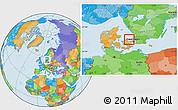 Political Location Map of Frederiksvark, highlighted parent region