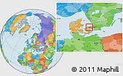 Political Location Map of Frederiksvark