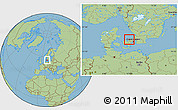 Savanna Style Location Map of Frederiksvark