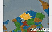 Political Map of Helsinge, darken