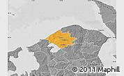 Political Map of Helsinge, desaturated