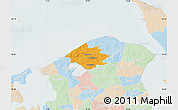 Political Map of Helsinge, lighten
