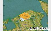 Political Map of Helsinge, satellite outside