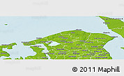 Physical Panoramic Map of Helsinge