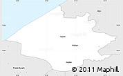 Silver Style Simple Map of Helsinge