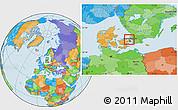 Political Location Map of Horsholm, highlighted parent region