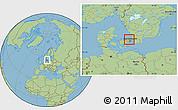 Savanna Style Location Map of Horsholm