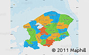 Political Map of Frederiksborg, single color outside