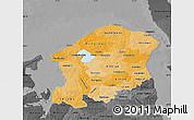 Political Shades Map of Frederiksborg, darken, desaturated