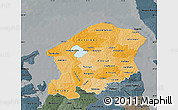 Political Shades Map of Frederiksborg, darken, semi-desaturated