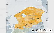 Political Shades Map of Frederiksborg, lighten, semi-desaturated