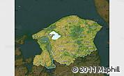 Satellite Map of Frederiksborg, darken