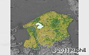 Satellite Map of Frederiksborg, desaturated