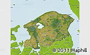 Satellite Map of Frederiksborg, physical outside