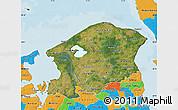 Satellite Map of Frederiksborg, political outside