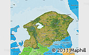Satellite Map of Frederiksborg, political shades outside