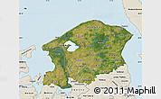 Satellite Map of Frederiksborg, shaded relief outside