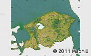Satellite Map of Frederiksborg, single color outside