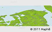 Physical Panoramic Map of Frederiksborg