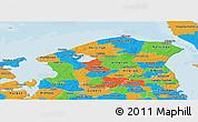 Political Panoramic Map of Frederiksborg