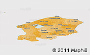 Political Shades Panoramic Map of Frederiksborg, cropped outside