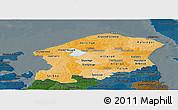 Political Shades Panoramic Map of Frederiksborg, darken