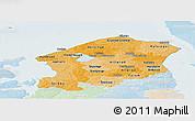 Political Shades Panoramic Map of Frederiksborg, lighten