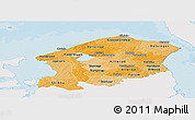 Political Shades Panoramic Map of Frederiksborg, single color outside