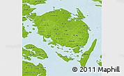 Physical 3D Map of Fyn