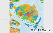 Political 3D Map of Fyn