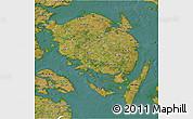 Satellite 3D Map of Fyn