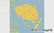 Savanna Style 3D Map of Fyn