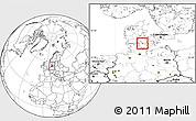 Blank Location Map of Aroskobing