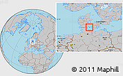 Gray Location Map of Aroskobing