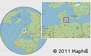 Savanna Style Location Map of Aroskobing