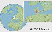 Savanna Style Location Map of Assens