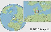 Savanna Style Location Map of Glamsbjerg