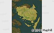 Satellite Map of Fyn, darken