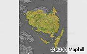 Satellite Map of Fyn, desaturated