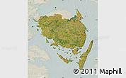 Satellite Map of Fyn, lighten